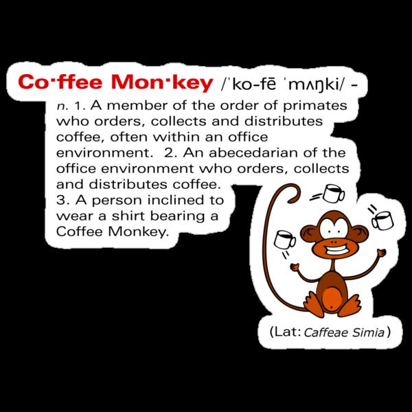 Coffee Monkey - Definition - Sticker by fridley