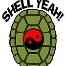 Shell Yeah Red Sticker by cybercat