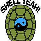Shell Yeah Blue Sticker by cybercat