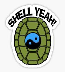 Shell Yeah Blue Sticker Sticker