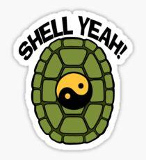 Shell Yeah Orange Sticker Sticker