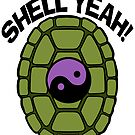 Shell Yeah Purple Sticker by cybercat