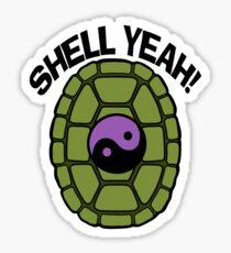 Shell Yeah Purple Sticker Sticker