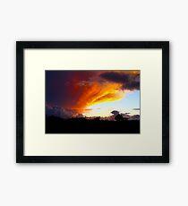 Honduran Sunset Framed Print