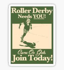 Roller Girl Recruitment Sticker Sticker