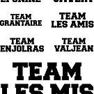 Team Les Mis Sticker Set 1 by freakedoutgeek