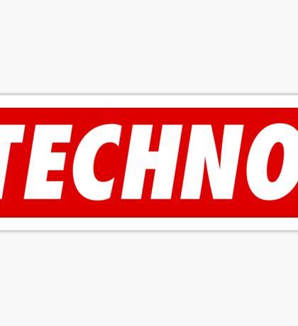 Techno. Sticker