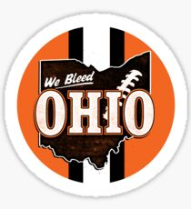 We Bleed Orange and Brown Sticker