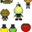 MonsterFruit Theater Small Sticker Sheet 1 by Allison Bair