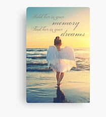 Hold Her In Your Memory Canvas Print