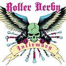 Roller Derby Infirmary Sticker by John Perlock