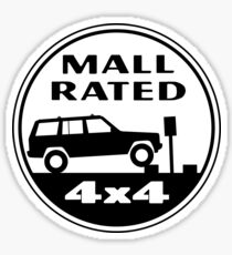 Mall Rated Jeep Cherokee Sticker