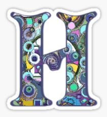 The Letter H Sticker