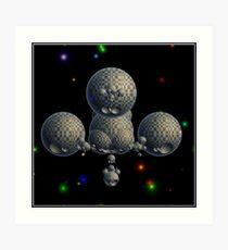 Hyperbolic Tessalations Art Print