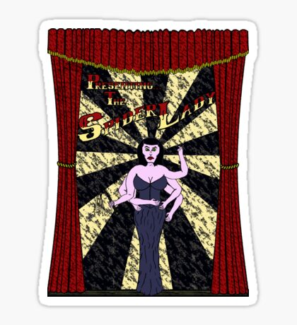 The Spider Lady Takes The Stage (Sticker) Sticker