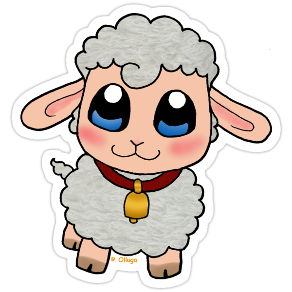 """Cute Sheep"" Stickers by Olluga 