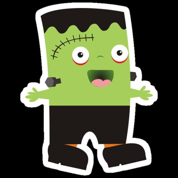 Cute baby Halloween Frankenstein. Stickers