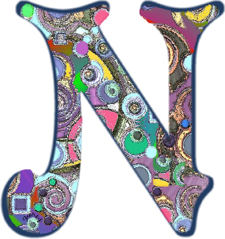 The letter n stickers by gretzky redbubble the letter n by gretzky sciox Gallery