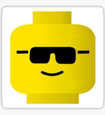 Sunglass Minifig Head, by Customize My Minifig Sticker