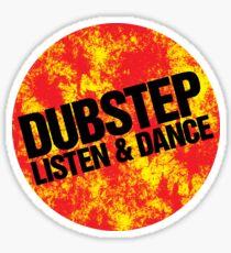 Dubstep Listen & Dance (lava) Sticker