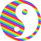 rainbow yin yang by offpeaktraveler