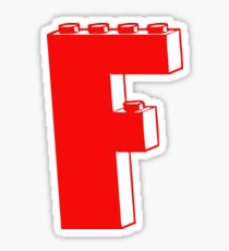 THE LETTER F, Customize My Minifig Sticker