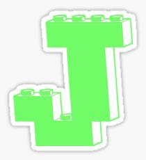 THE LETTER J Sticker