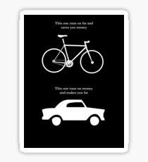 Bike V's Car Sticker Sticker