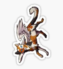 Calico Winged Cat Sticker Sticker