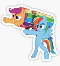 Rainbow Cannon Sticker