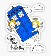 The Angels have the Phone Box - Version 2 (for light tees) Sticker