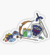 Zelda quest items Sticker