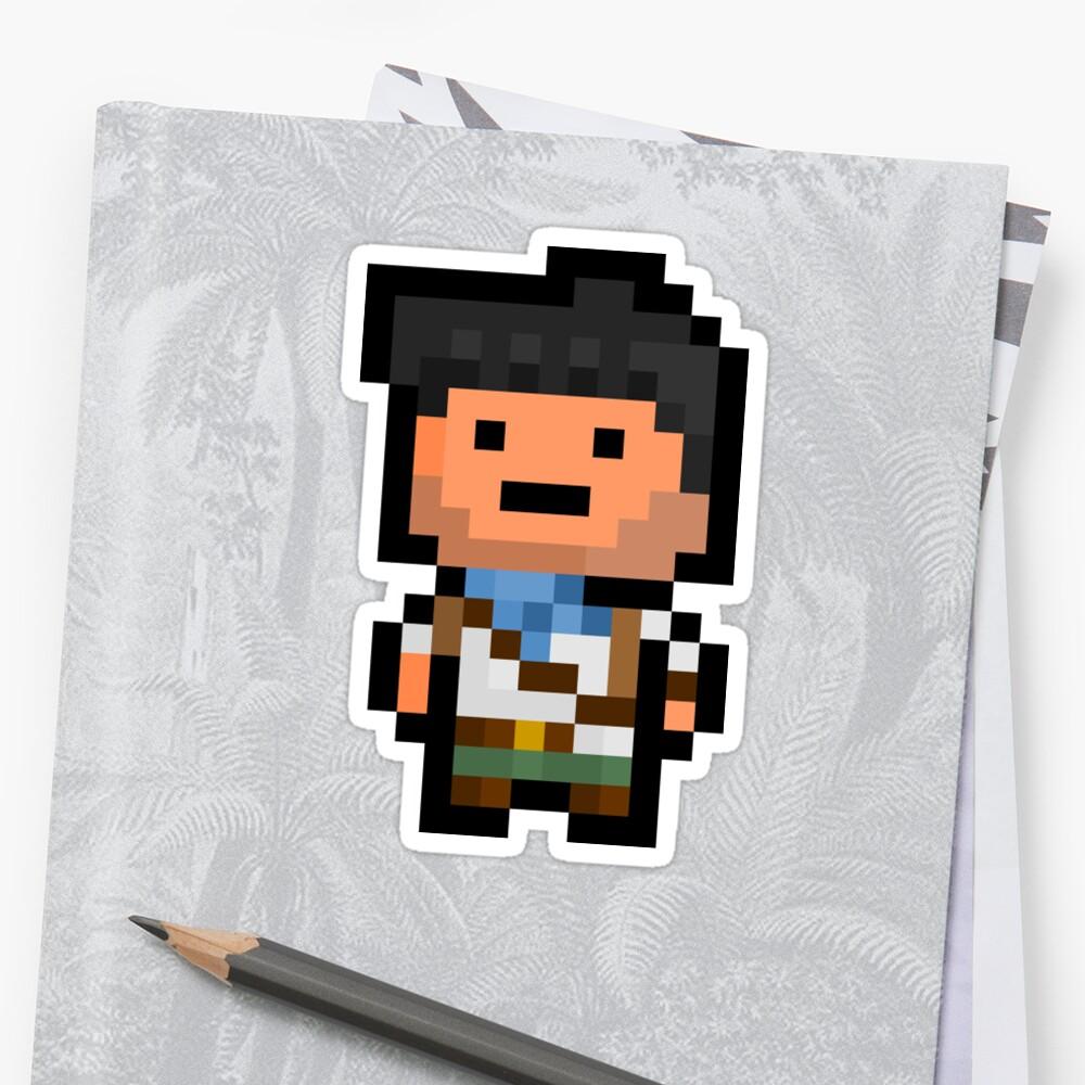 Pixel Nathan Drake Sticker by PixelBlock