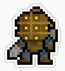 Pixel Big Daddy Sticker Sticker