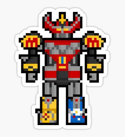 Pixel Megazord Sticker Sticker