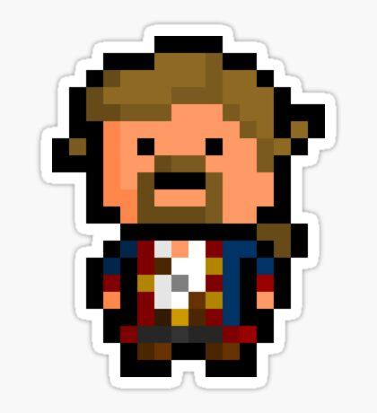 Pixel Guybrush Threepwood Sticker Sticker