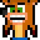 Pixel Crash Bandicoot Sticker by PixelBlock
