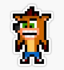 Pixel Crash Bandicoot Sticker Sticker