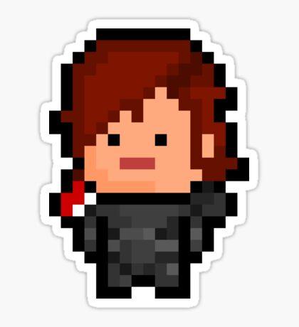 Pixel Commander Shepard (F) Sticker Sticker