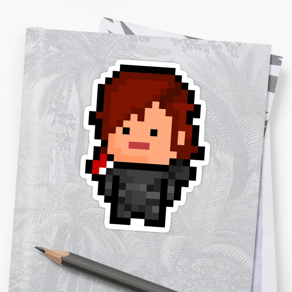 Pixel Commander Shepard (F) Sticker by PixelBlock