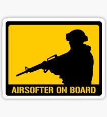 Airsofter on board Sticker