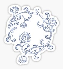 Ring of Blue Roses Sticker