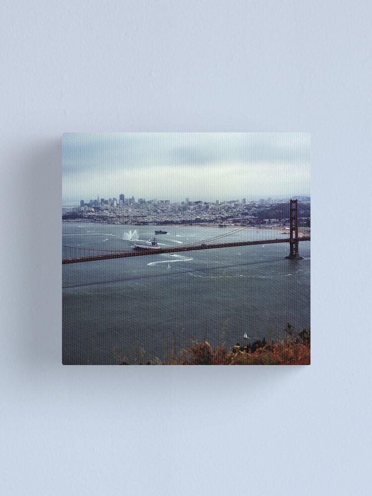 Alternate view of U.S.S. Nimitz - 75th Anniversary of the Golden Gate Bridge Canvas Print