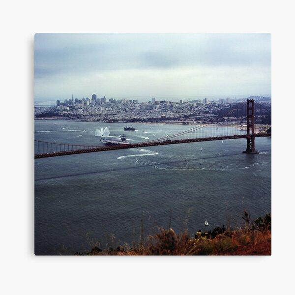 U.S.S. Nimitz - 75th Anniversary of the Golden Gate Bridge Canvas Print