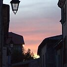 Street Light at Sunset by Laurel Talabere