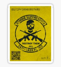Zombie Equipment ID  Sticker