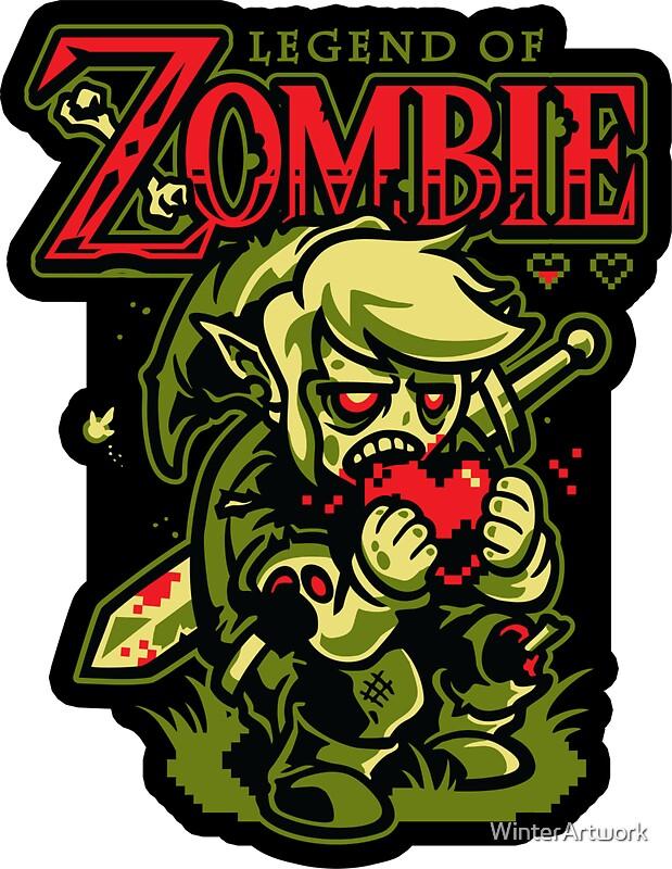 """""""Legend of Zombie - STICKER"""" Stickers by WinterArtwork ..."""