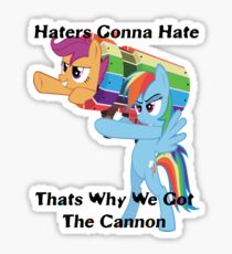 Party Cannon For The Haters  Sticker