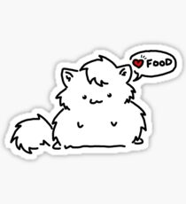 Fat Kitty Mroo Loves Food! Sticker