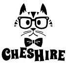 Cheshire Originals - Nerdy Cat Sticker by CheshireGoMad